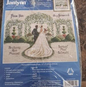 Janlynn wedding cross stitch kit.